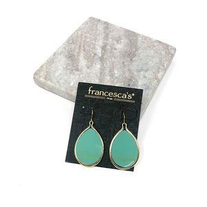 4/$25 • Francesca's Green Droplet Shaped Earrings